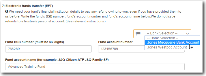 Add Bank Account Details to the SMSF Annual Return – Simple