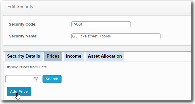 Manually Revaluing Security Prices – Simple Fund 360