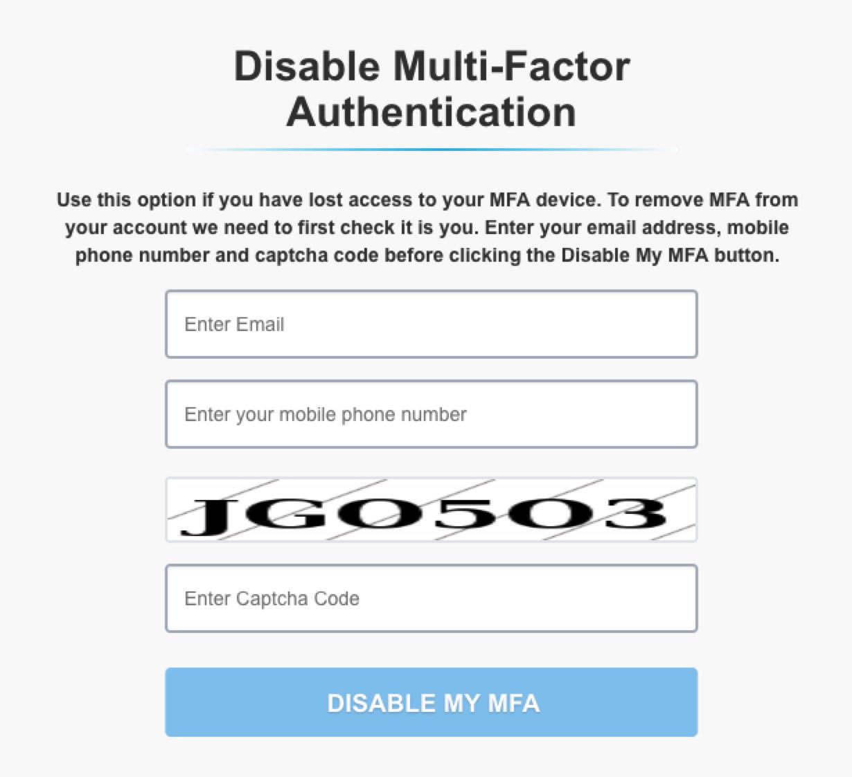 Multi-Factor Authentication (MFA) – Simple Fund 360